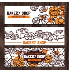 Bakery Shop Design Sketch Bakery Banners vector