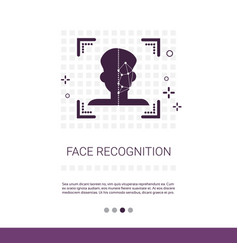 Biometric identification face recognition system vector