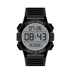 black digital hands watch for men vector image