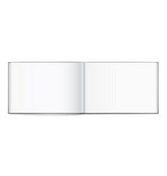 Blank of open album with cover on white background vector