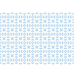 blue plant ornament on a white background for vector image