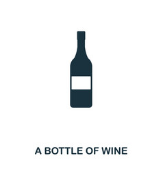 bottle of wine icon line style icon design ui vector image