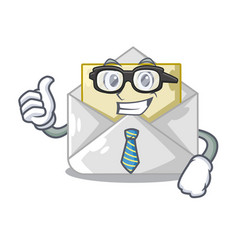 Businessman open envelope greeting posters on vector
