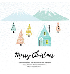 christmas house in forest vector image