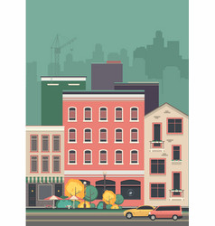 cityscape city street vector image