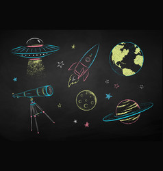 collection space objects vector image