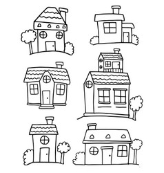 collection stock of house various vector image