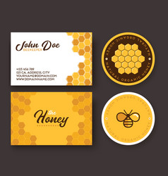 Corporate identity for a company producing bee vector