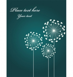 Dandelion background vector