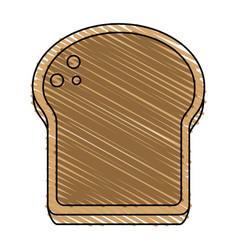 Delicious bread slice icon imag vector