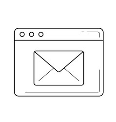 electronic mail service line icon vector image