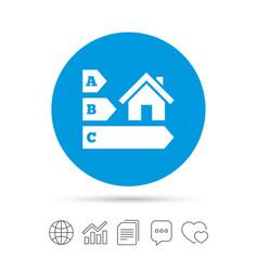 Energy efficiency icon house building symbol vector