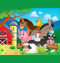 farm animals topic image 3 vector image