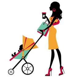 Fashion mom vector