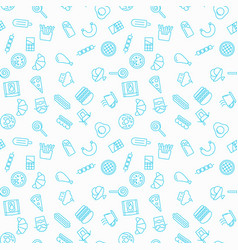 fastfood simple seamless pattern vector image