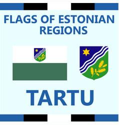 Flag estonian region tartu vector