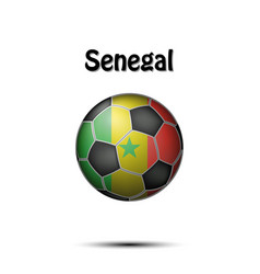 flag of senegal in the form of a soccer ball vector image