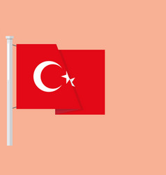 flag of turkey with copyspace vector image