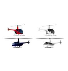 Four helicopters set vector