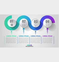 four steps business infographics timeline modern vector image