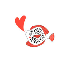 Funny amorous plaice vector