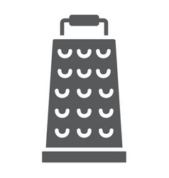 Grater glyph icon kitchen and cooking vector
