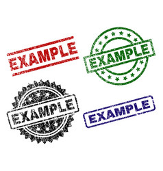 Grunge textured example seal stamps vector
