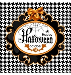 Halloween isolated on white vector