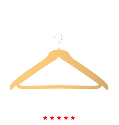 hanger icon flat style vector image