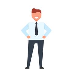 happy businessman in suit vector image