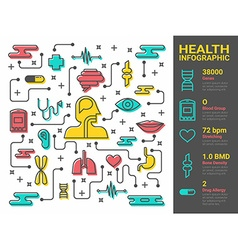Health and medical line art vector image