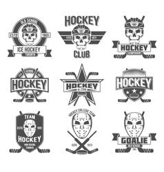 Hockey logo set vector