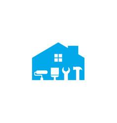 Home maintenance logo design template vector