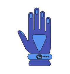 Icon in flat design glove vector