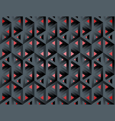Impossible figures isometric 3d hollow cubes vector