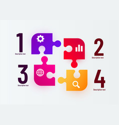 infographics puzzle elements and marketing icons vector image