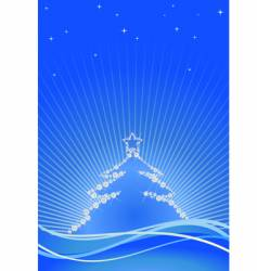 jewel Christmas tree vector image