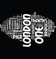 London from thames text background word cloud vector
