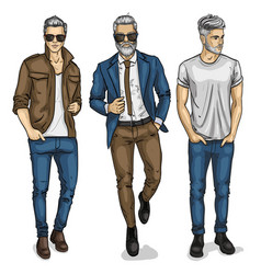 Man models vector