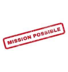Mission Possible Rubber Stamp vector