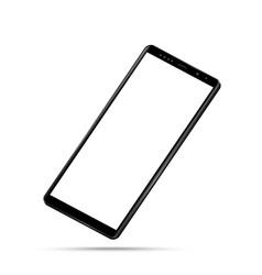 modern realistic perspective black smartphone vector image