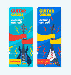 music guitar concert tickets vertical banner vector image
