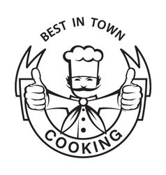 Mustachioed chef image vector