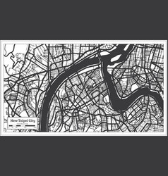 New taipei city taiwan indonesia city map vector