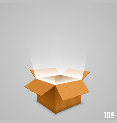 Open box with the outgoing light vector