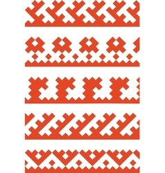 ornament color 01 vector image