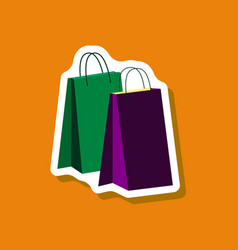 Paper sticker fashion clothes bags vector