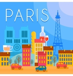 Paris City Background vector image