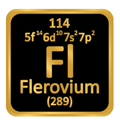 Periodic table element flerovium icon vector