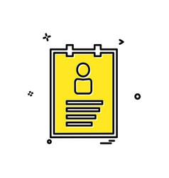 profile icon design vector image